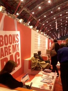 The Books Are My Bag campaign stand