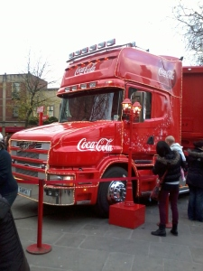 The Coca Cola Christmas Truck!