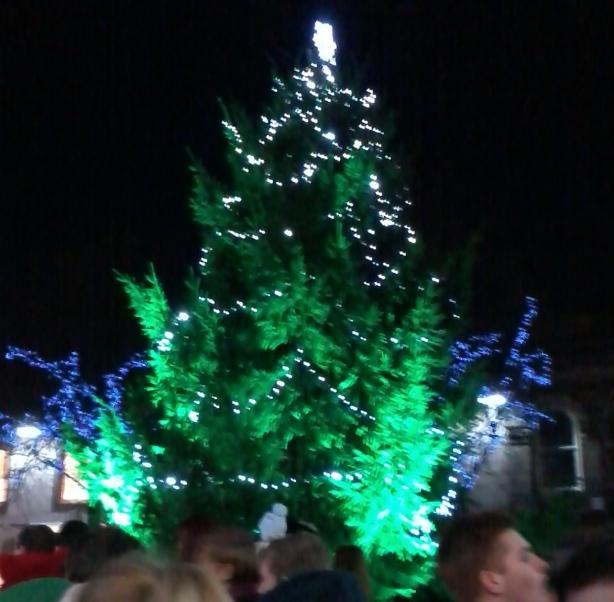 Lancaster Market Square's Christmas tree, Lancashire