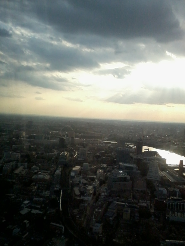 The view from the Shard viewing platform!