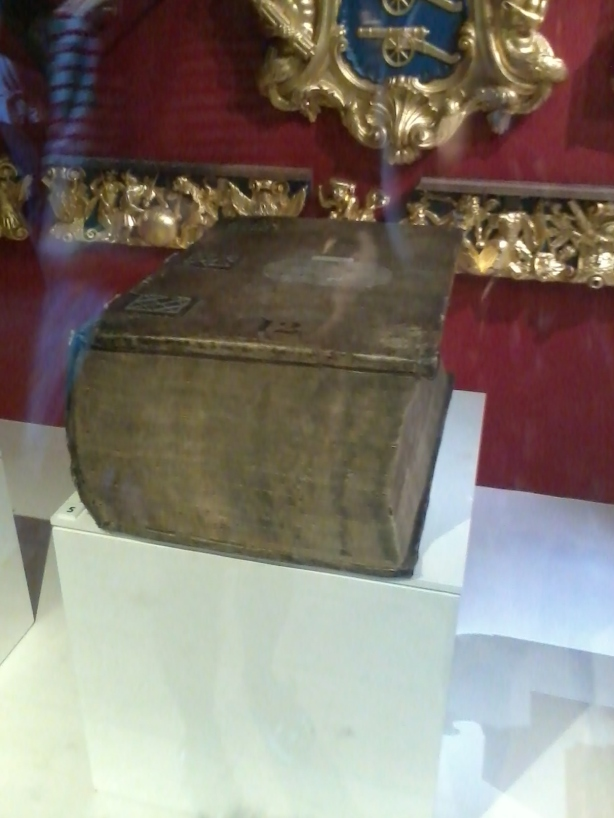 An old book I spotted on display at the Tower of London - I think it's an old ledger book that's a few hundred years old!