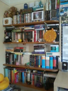 My bookshelves BEFORE