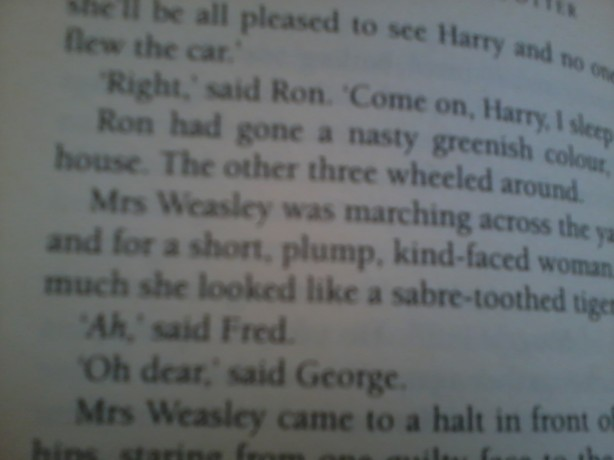 "Mrs Weasley appears for the first time in ""Harry Potter and the Chamber of Secrets"""