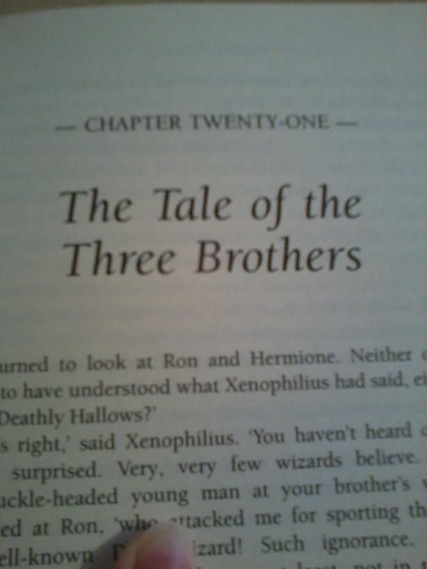 """Chapter title from """"Harry Potter and the Deathly Hallows"""""""