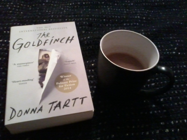 """The Goldfinch"" by Donna Tartt and hot chocolate"