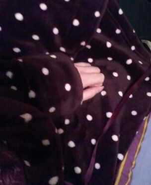 Cosy fluffy dressing gown